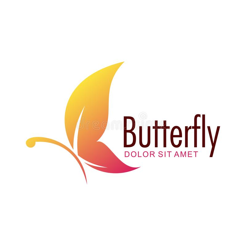 Butterfly vector logo design template royalty free illustration