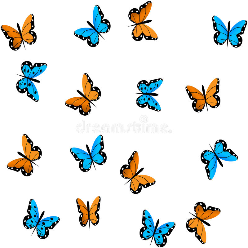 Butterfly on white background royalty free illustration