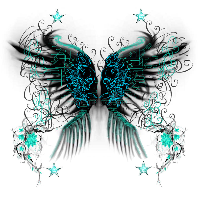 Download Butterfly wings stock illustration. Illustration of abstract - 8585968