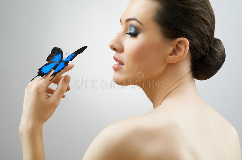 Butterfly woman stock photos