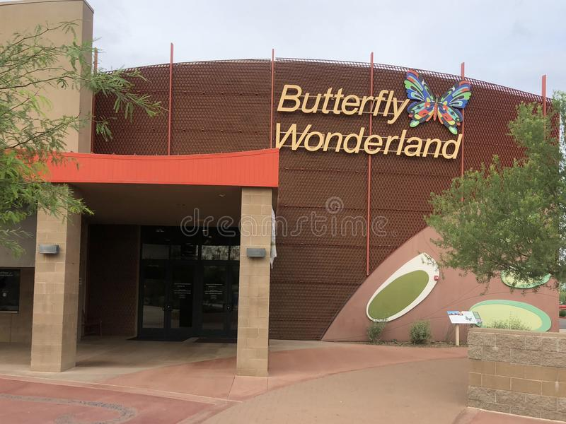 Butterfly Wonderland Scottsdale,Az. Scottsdale,Az/USA - 7.15.2018: Butterfly Wonderland, hosts the largest butterfly conservatory in the country with over 3,000 stock photo