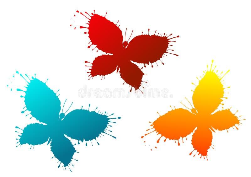 Butterflyes als bunte Flecken lizenzfreie abbildung