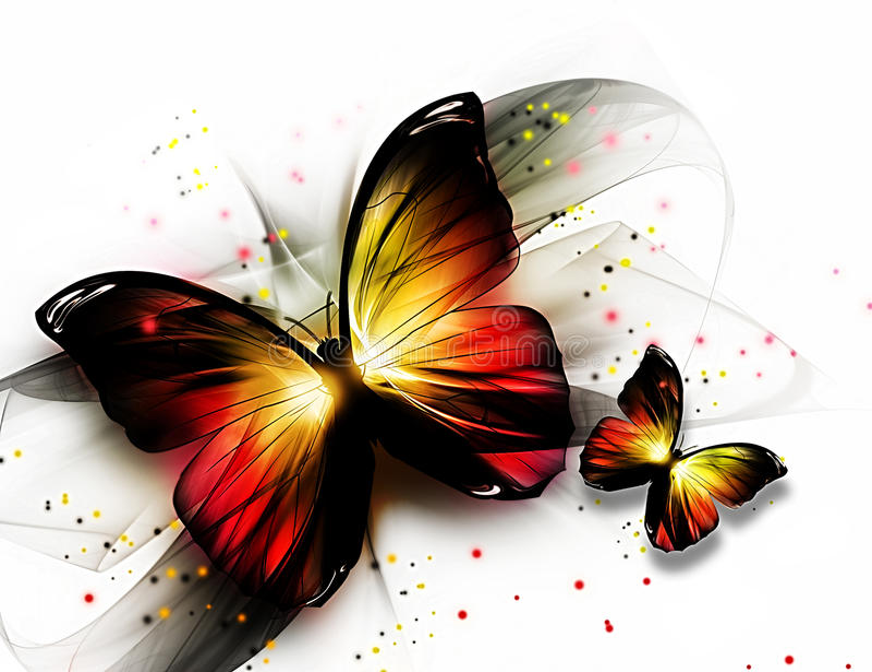butterflys 库存例证