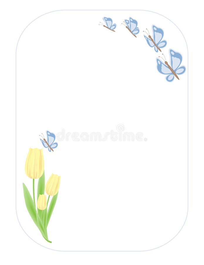 Free Butterflys N Tulips Stock Photography - 107902