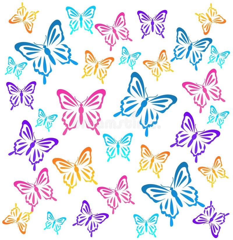 Butterflys również zwrócić corel ilustracji wektora royalty ilustracja