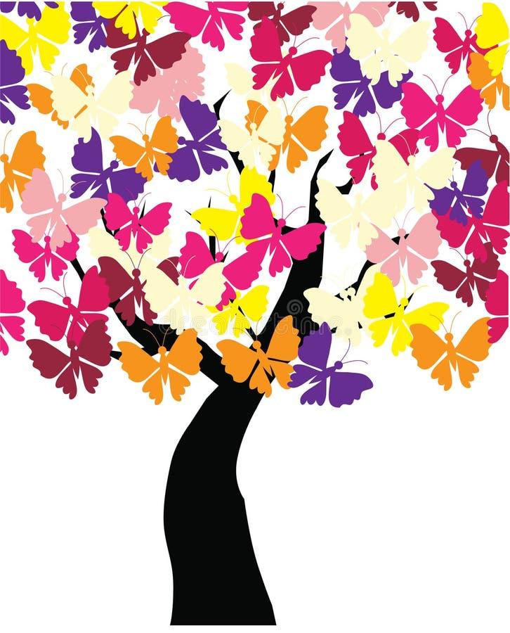 Butterlfy Baum lizenzfreie abbildung
