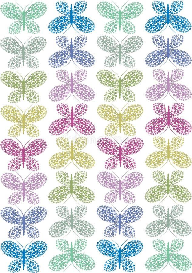 butterlies кружевные иллюстрация штока
