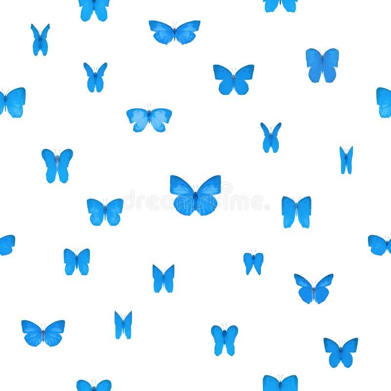 Butterlies azul repetível ilustração royalty free