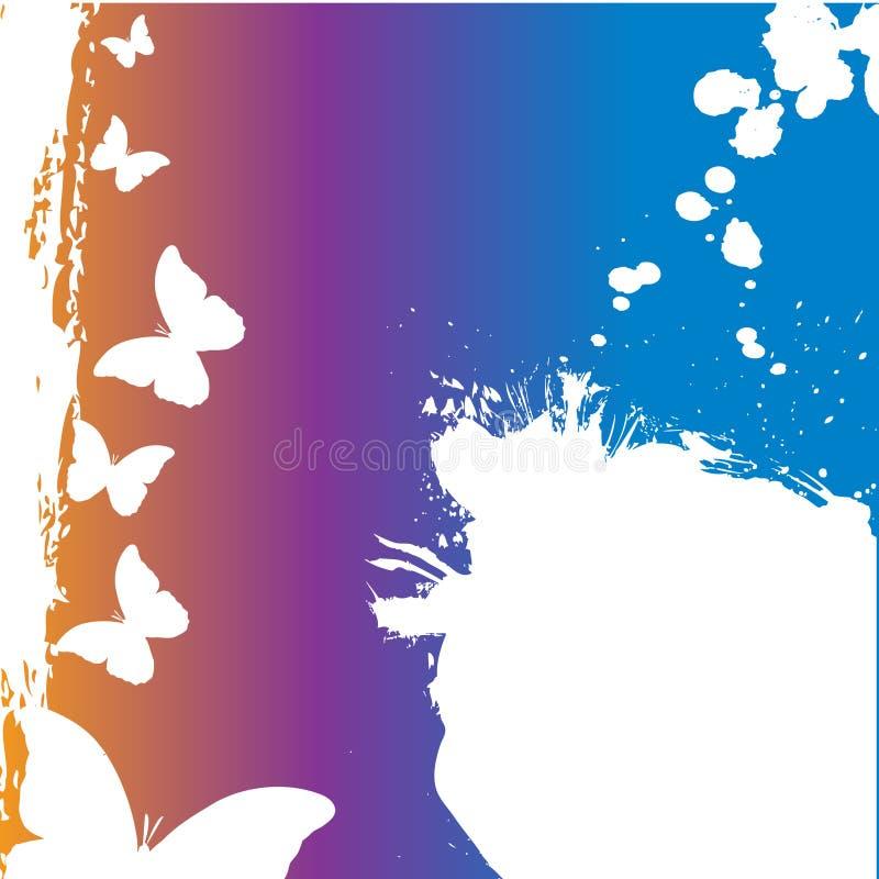 butterly σχέδιο grunge διανυσματική απεικόνιση
