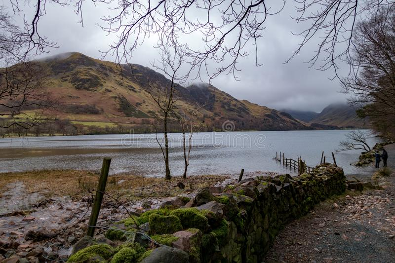 Buttermere in Winter stock photography