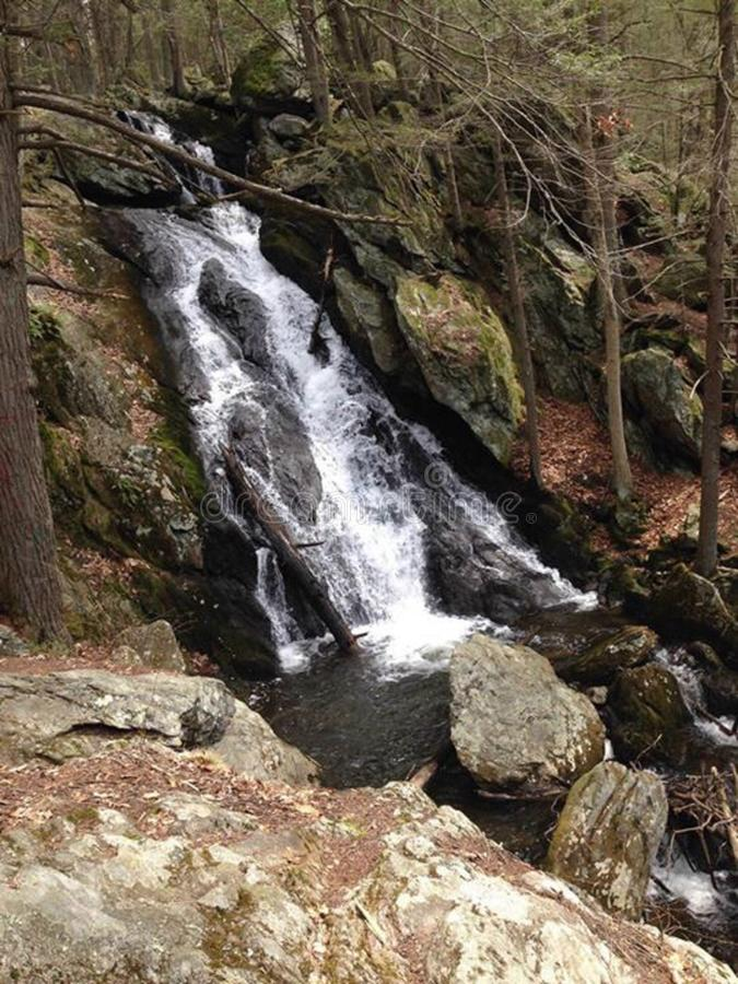 Buttermilk Falls in Conneticut royalty free stock images