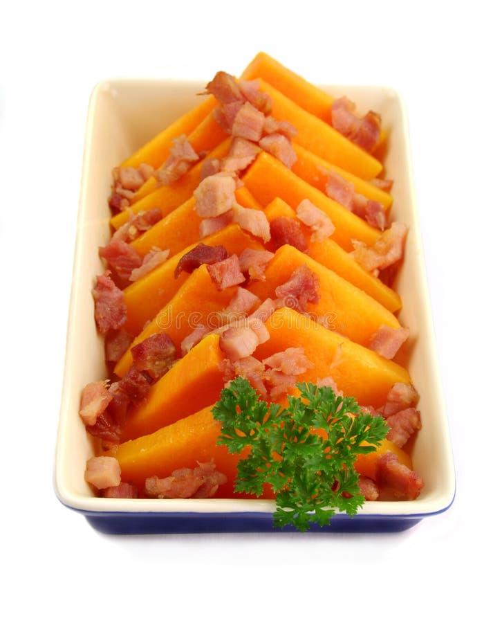 Butternut e bacon fotos de stock