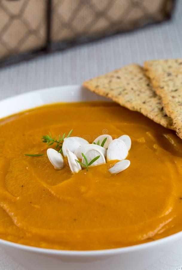 Butternut Ginger Soup imagem de stock
