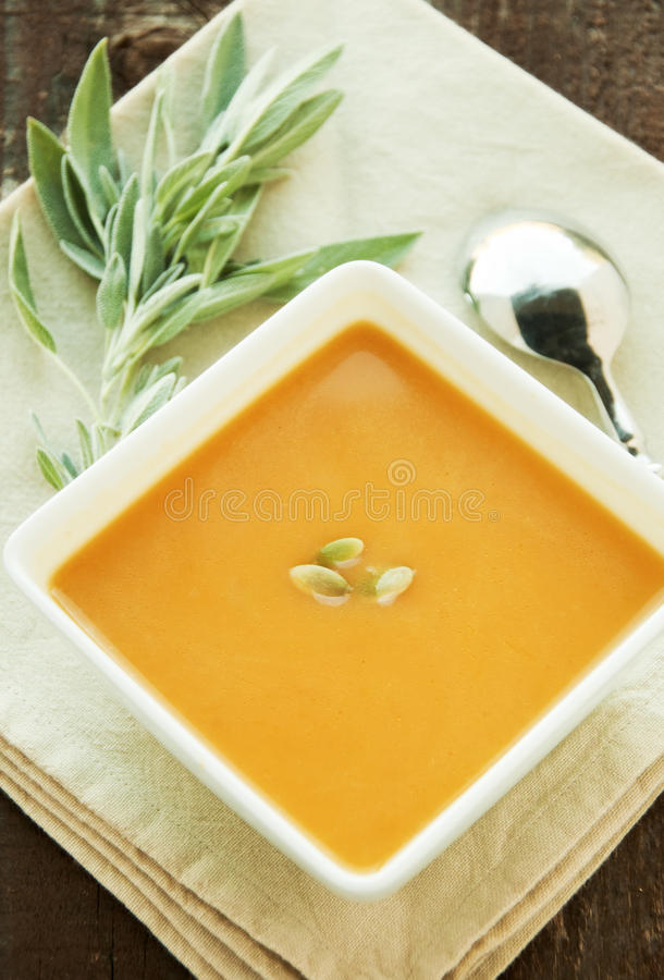 Free Butternut Squash Soup Royalty Free Stock Images - 27217759