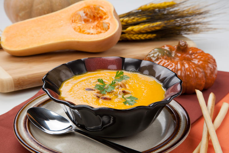 Butternut Squash Soup stock photography