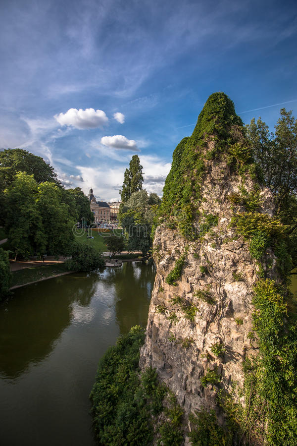 Buttes chaumont Parc paris royalty free stock photography