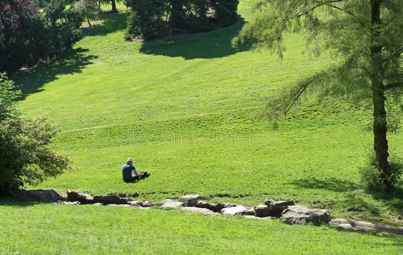Buttes Chaumont park royalty free stock photos