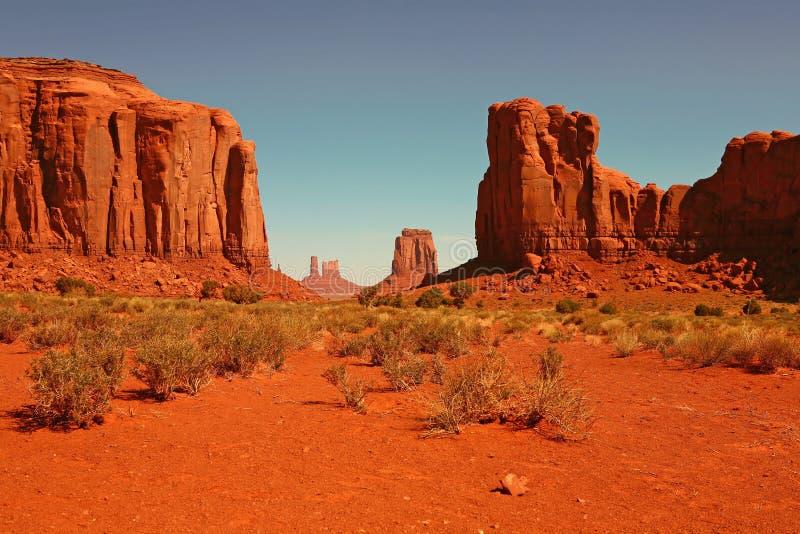 Buttes no vale o Arizona do monumento fotografia de stock royalty free