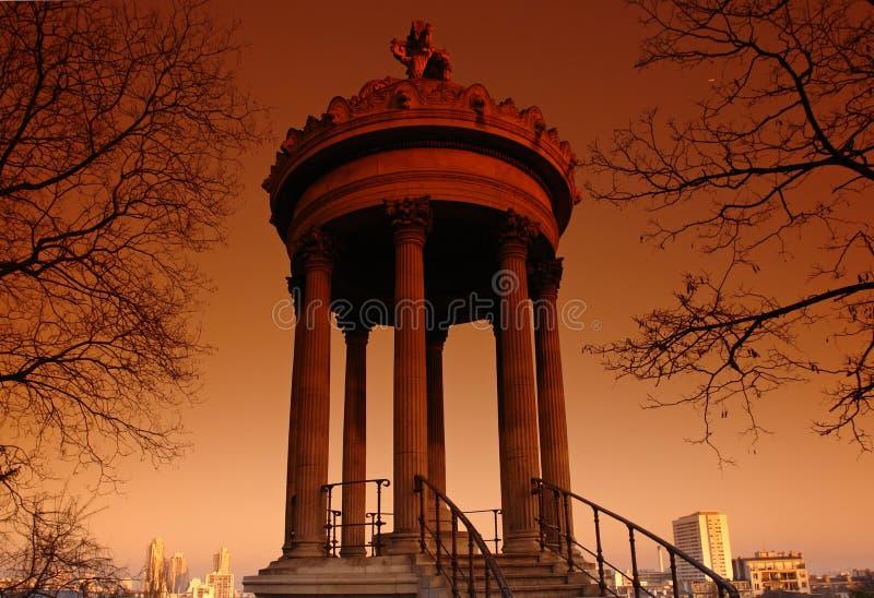 buttes Paris Chaumont świątyni zdjęcia royalty free