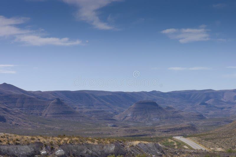 Buttes roxos do parque nacional de Guadalupe imagens de stock