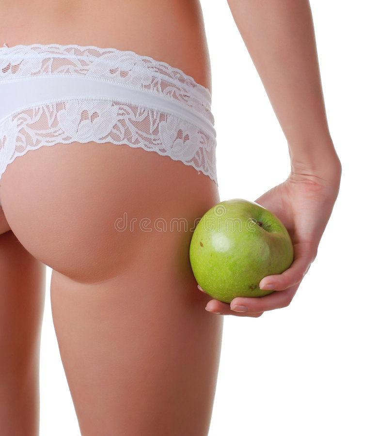 Download Buttocks In White Panties Royalty Free Stock Images - Image: 8275489