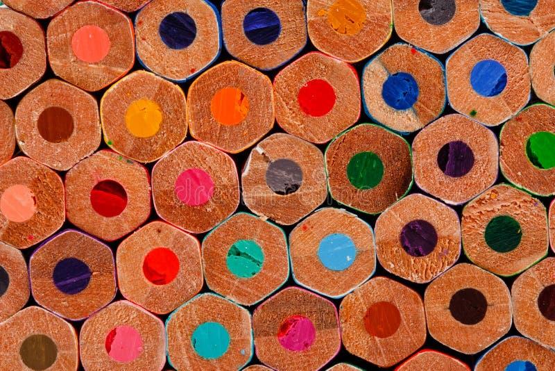 Buttom цветастого crayon для chidren стоковая фотография rf