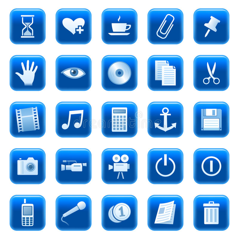 button 3 ikon sieci ilustracja wektor