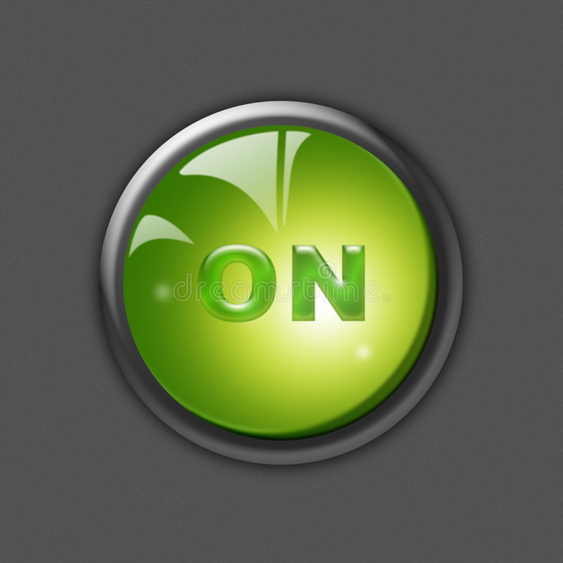 Download ON-Button stock illustration. Illustration of transparent - 7502764