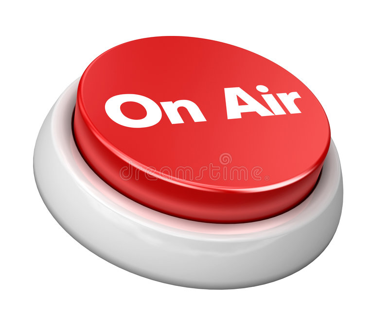 Button on air stock photography