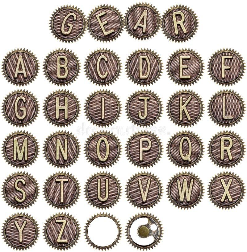 Button alphabet stock image