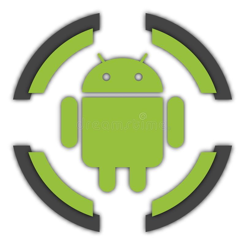 Button Android royalty free illustration