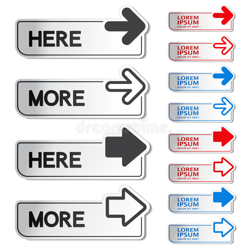 Download Button With Arrow - Here, More Stickers Stock Images - Image: 30327104
