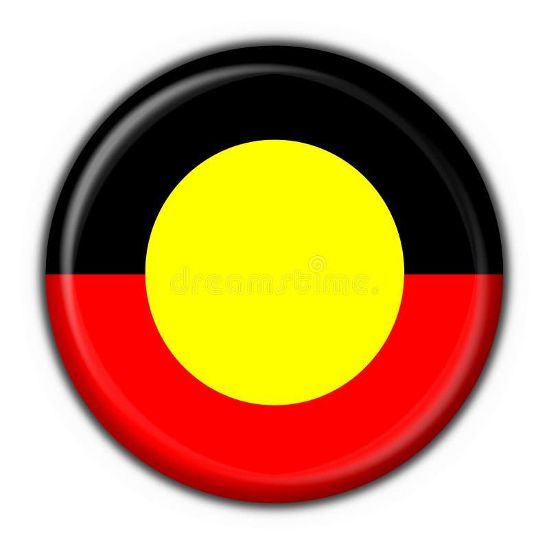button australijskiej tubylczej flagi okrągły kształt ilustracja wektor