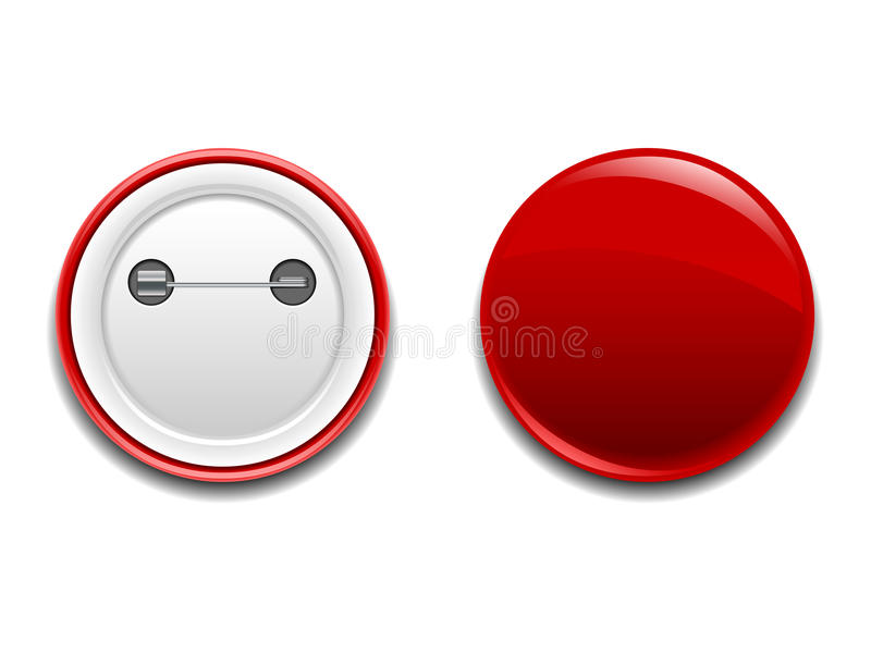 Button Badge Pin Icon stock vector. Illustration of ...