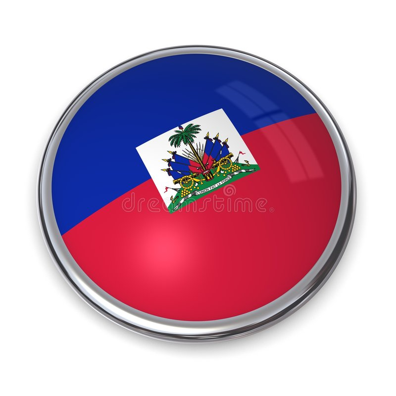 button banner Haiti ilustracja wektor
