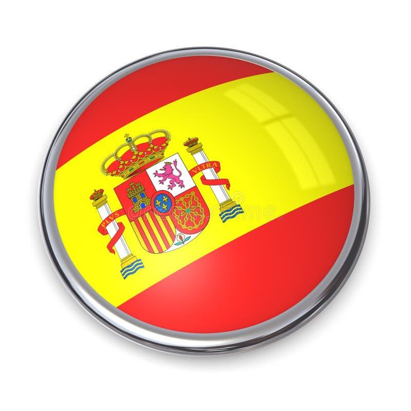 button banner Hiszpanii ilustracji