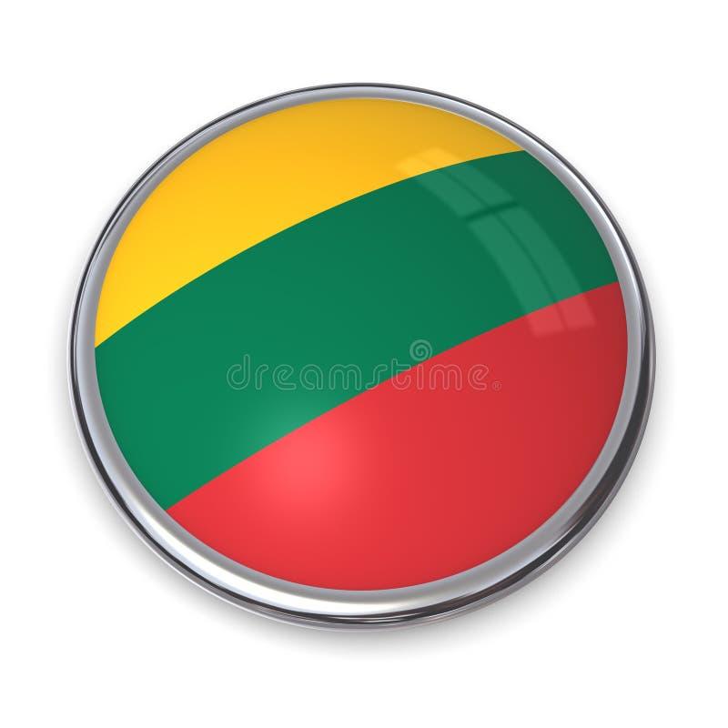 button banner Litwa royalty ilustracja