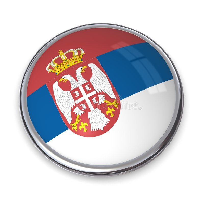 button banner Serbii royalty ilustracja