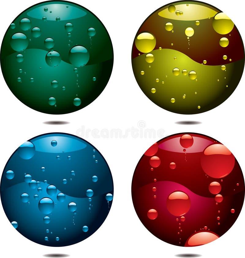 button bubble ilustracji
