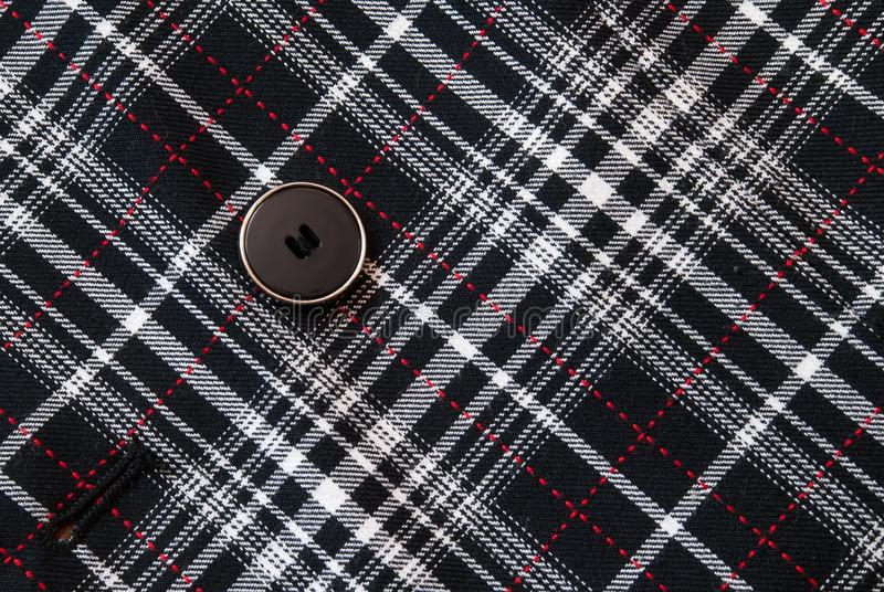 Button on the clothes royalty free stock photography