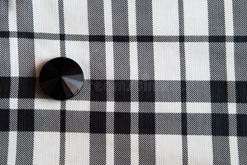 Button on the clothes stock image