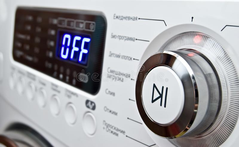 Download Button On A Control Of Washing-machine Panel Stock Image - Image: 5287001