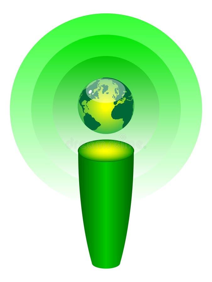 button den moderna rengöringsduken för information royaltyfri illustrationer
