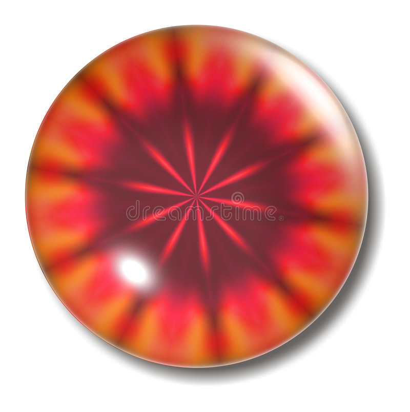 button den smälta orben för lava stock illustrationer
