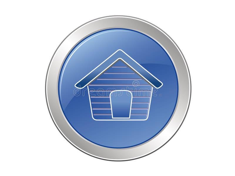 button dog house διανυσματική απεικόνιση