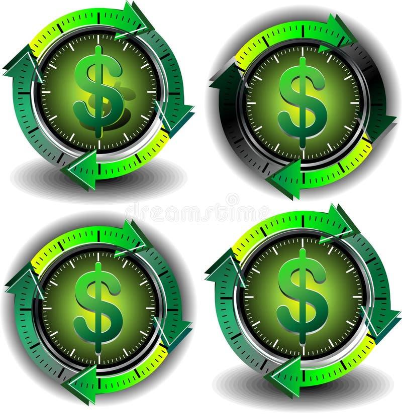 Button dollar vector illustration