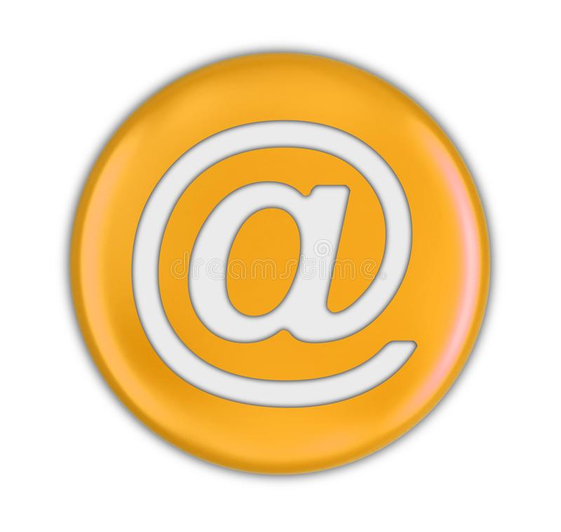 Button with E-mail sign. Image with clipping path stock illustration