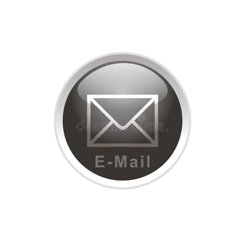 button e-posten royaltyfri illustrationer