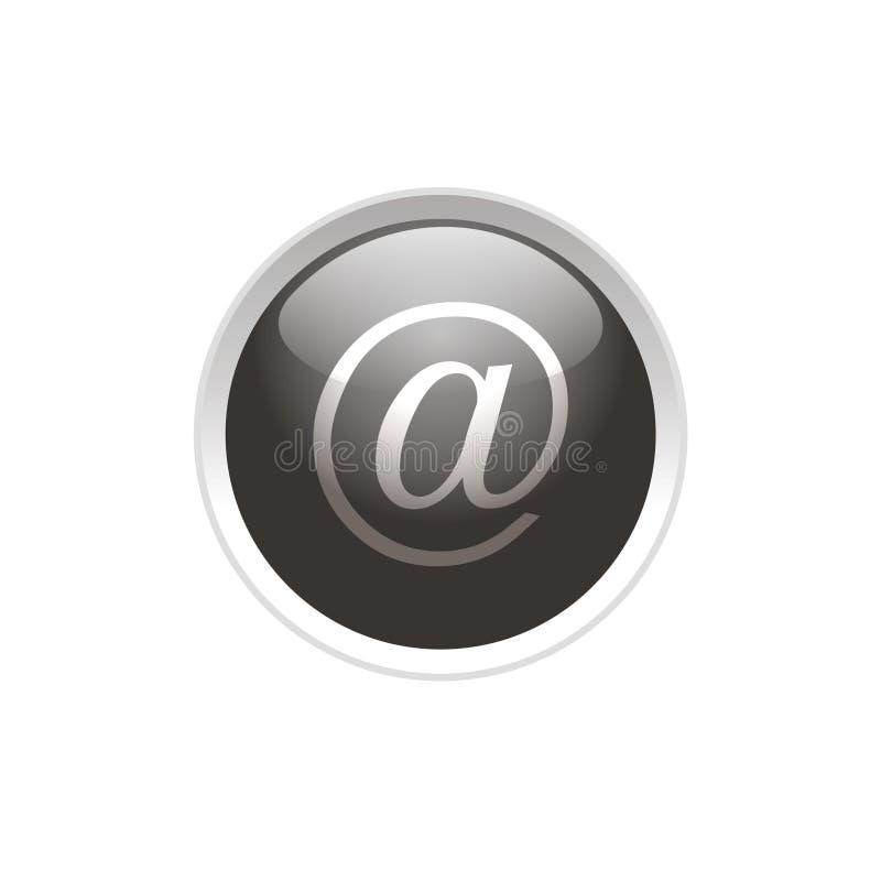 button e-posten stock illustrationer