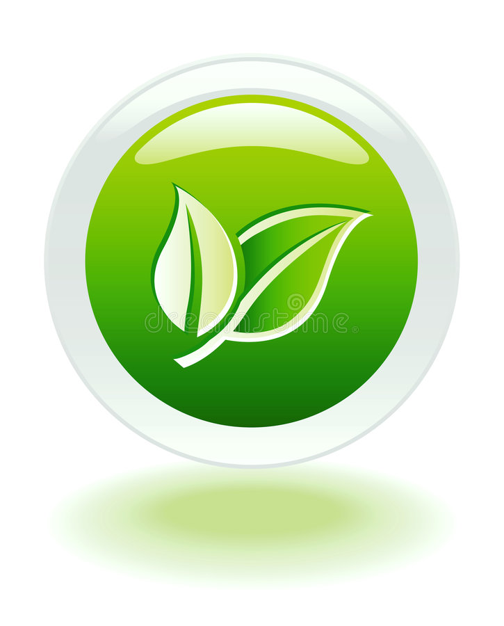 button ekologii internetu sieci ilustracja wektor